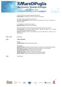Convegno ZES, attrazione degli investimenti e Blue economy 2