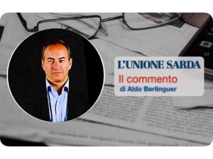 Aldo Berlinguer editoriale sull'unione sarda con commento situazione sociale politica economica dell'Italia e della Sardegna