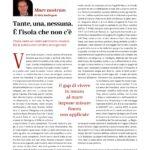 articolo Aldo Berlinguer sulle isole minori della sardegna
